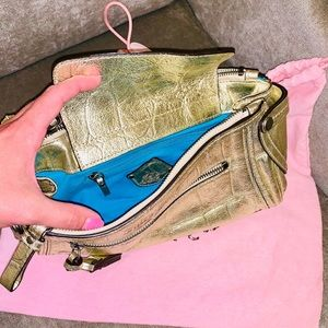 Juicy Couture Metallic Leather Clutch!!